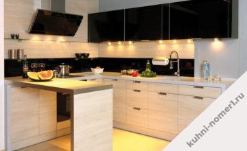 Кухни с точечным освещением