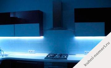 Кухни со светодиодной лентой