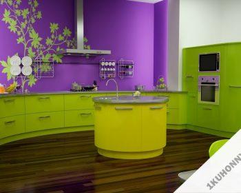 Яркие кухни