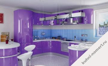 Сиреневые кухни