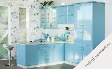 Голубые кухни на заказ в Москве