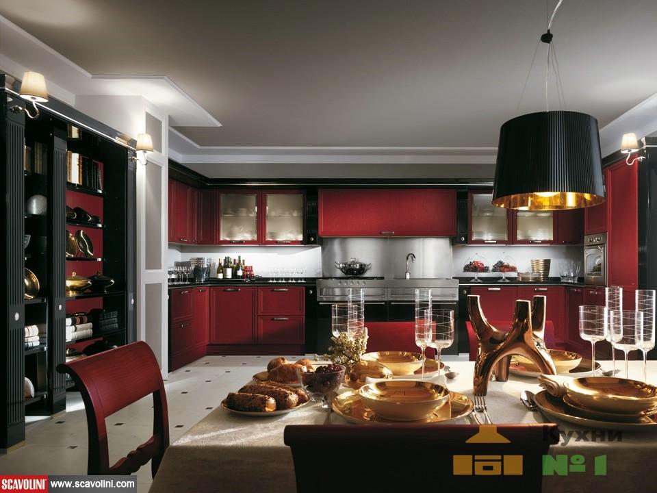 бордовые кухни на заказ в Москве фото
