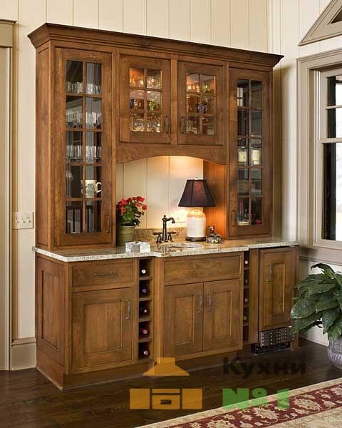 древесные кухни на заказ в Москве фото