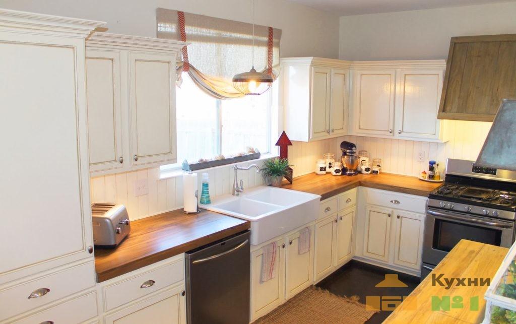кухни из шпона фото