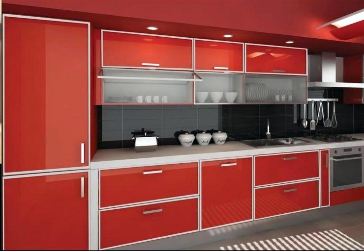 кухни с алюминиевым профилем фото