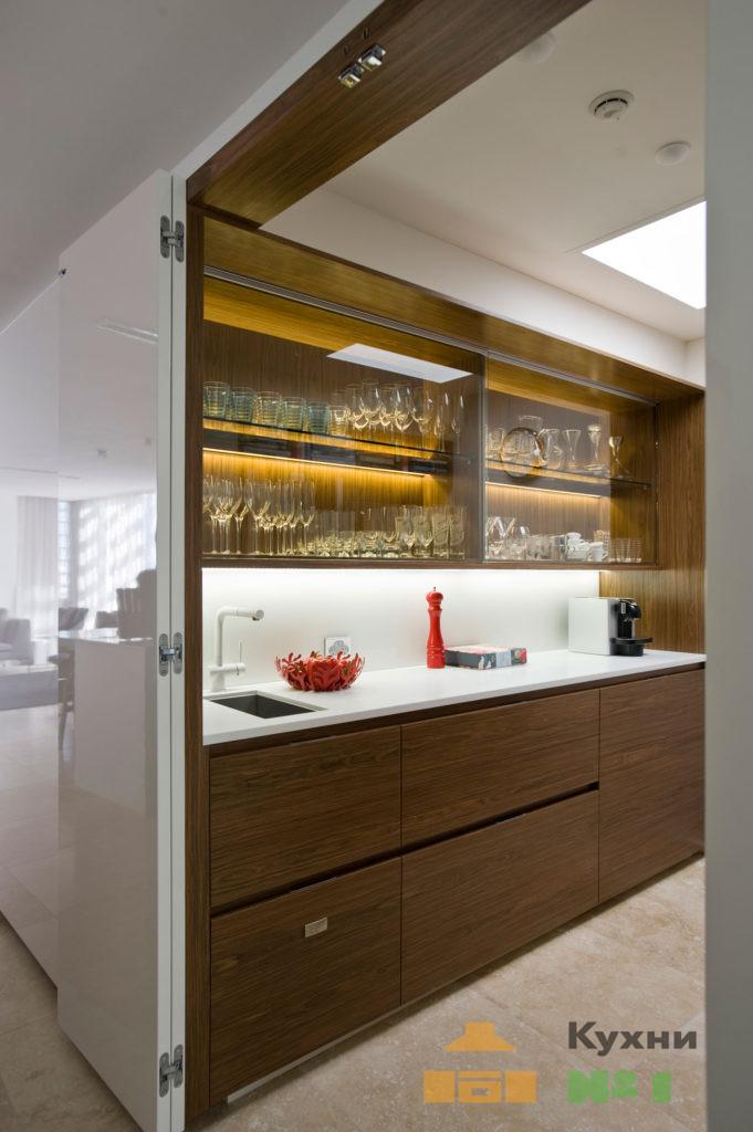 стеклянные кухни фото