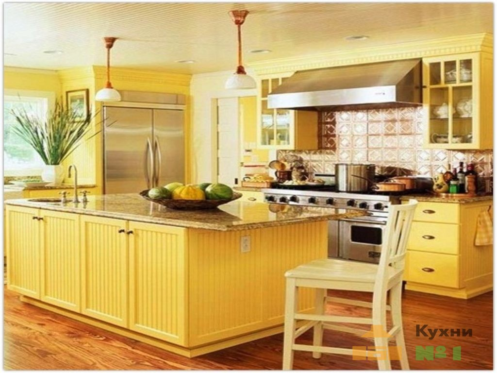 желтые кухни фото