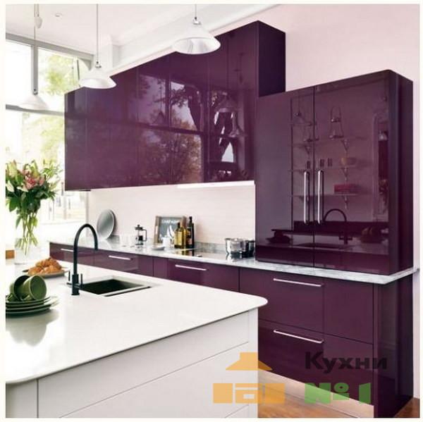 фиолетовые кухни фото