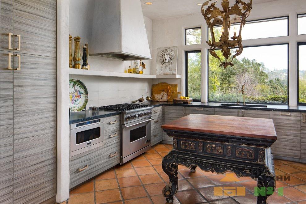 кухни в стиле эклектика фото