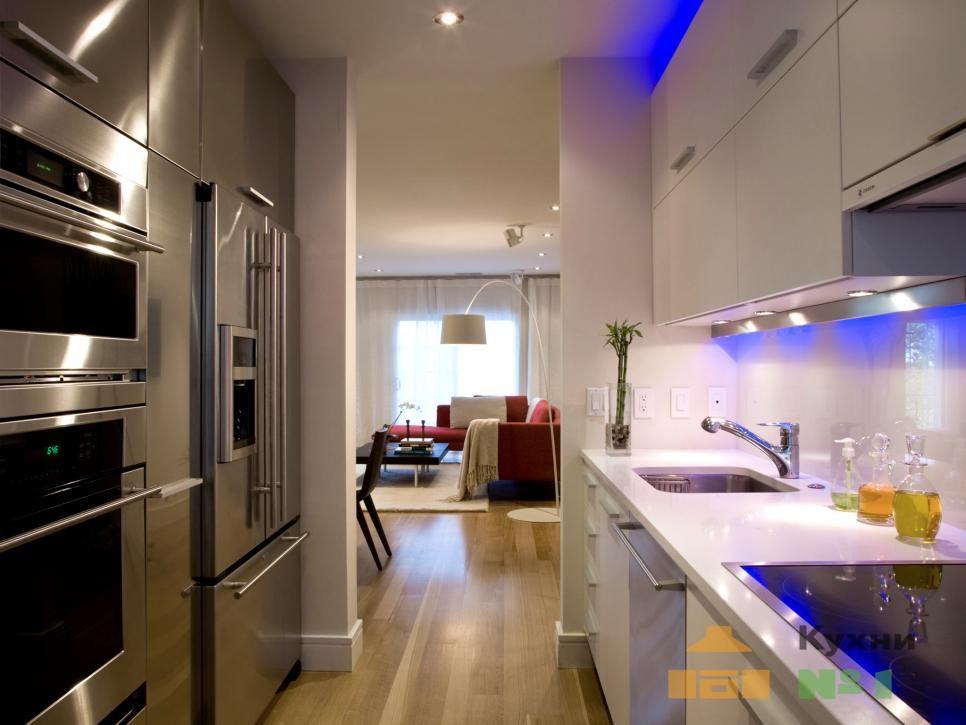 кухни с точечным освещением фото