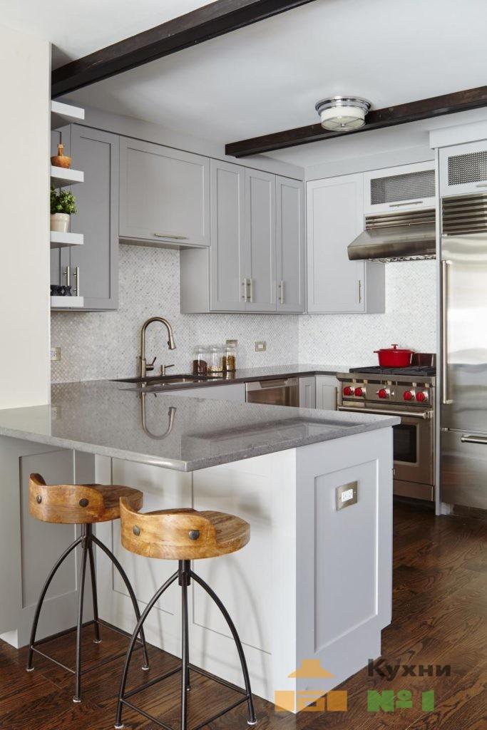 угловые кухни для маленькой кухни фото