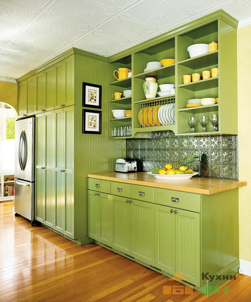 зеленые кухни фото